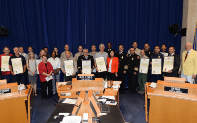 "Board Honors ""Old Fire"" Heroes"