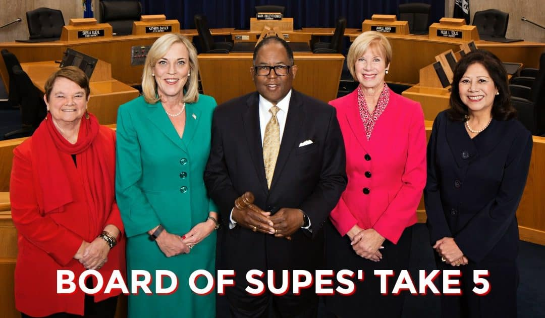 Board of Supes' Take 5 — March 14, 2017